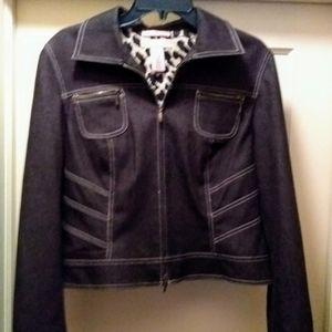 New sz 12 Bandolino lined stretch denim jacket